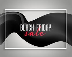 elegantes schwarzes Freitag-Verkaufshintergrunddesign