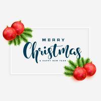 elegante sfondo di auguri di buon Natale