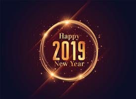 2019 happy new year shiny background design
