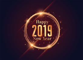 2019 feliz año nuevo diseño de fondo brillante