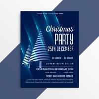 shiny blue christmas party flyer template