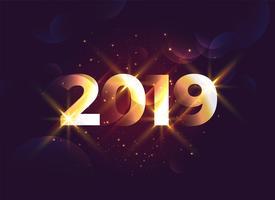Fondo brillante año nuevo creativo 2019