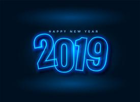 neon style 2019 new year background