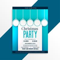party flyer design for christmas festival