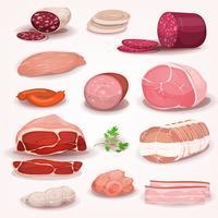 Delikatessen- und Metzgerei-Fleisch-Set