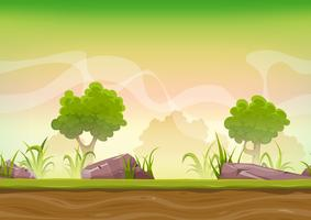 Seamless Forest Landscape For Ui Game