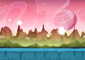 Fairy Sci-fi Alien Landscape For Ui Game vector