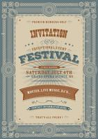 Vintage Holiday Festival Invitation Background vector