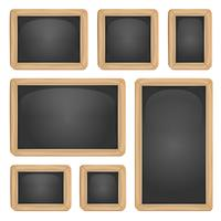 School Blackboard Set vector