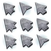 Stone Icons, Cursor And Arrows vector