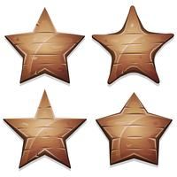 Wood Stars Ikoner För Ui Game