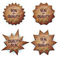 Cartoon Wooden Seal Of Quality
