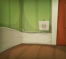 Cartoon hoek van kamer Close-Up