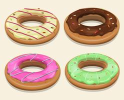 Fast Food Donuts vector