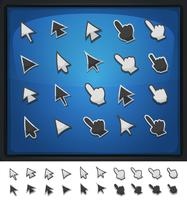 Comic Computer Cursors, Pointers And Arrows Icons
