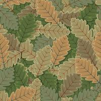 Seamless Oak Tree Leaves Background