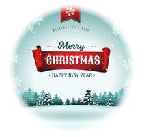 Frohe Weihnachtsfeiertage Schneeball