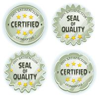 Cartoon Silver Premium Quality Seals