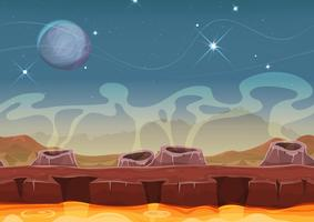 Fantasy Alien Planet Desert Paisagem Para Ui Game