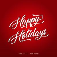 Happy Holidays Lettering Greeting Card