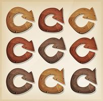 Wooden Refresh Arrows Icons For Ui Game