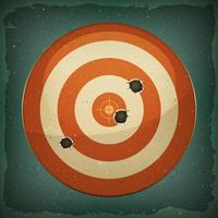 Dart Target With Bullets Shot