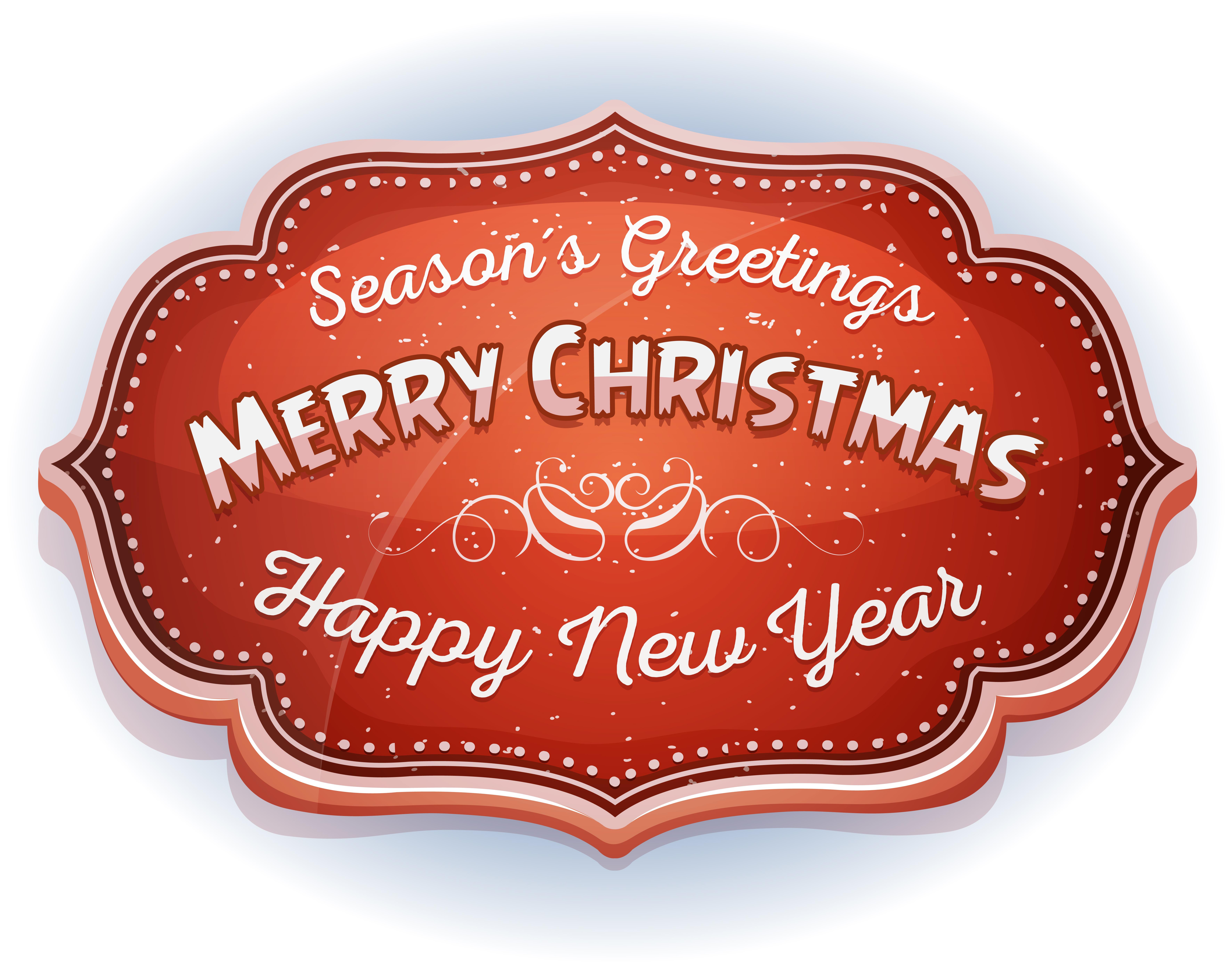 Happy New Year And Season's Greetings
