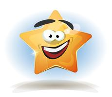 Funny Star Character Icon vector