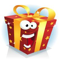 Christmas And Birthday Gift Box Character