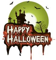 Banner di vacanze di Halloween vettore