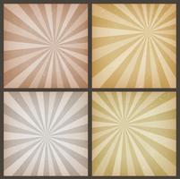Abstrait Vintage Sunbeams Backgrounds Set