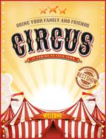 Vintage Summer Circus Poster With Big Top