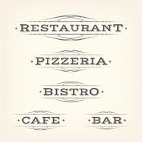 Retro Restaurant, Pizzeria And Bar Banners