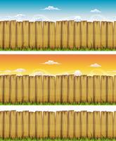Seamless Spring Or Summer Wood Fence vector