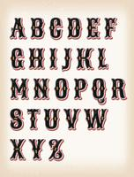 Vintage Circus And Western ABC Font