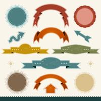 Grunge Banners, Arrows And Ribbons vector