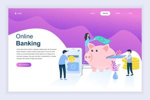 Banner sito Web di attività bancarie online