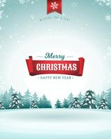 Merry Christmas Holidays Greeting Card vector