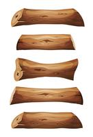 Wood Logs And Planks Set