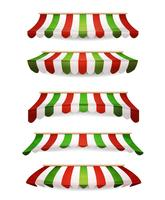 Italian Striped Awnings For Market Store vector