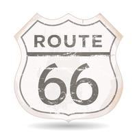 Icona Route 66 con texture grunge e ruggine