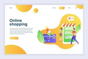 Banner de web de compras en línea