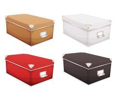Conjunto de caixas de armazenamento