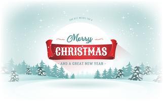Carte postale de paysage de Noël