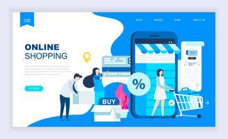 Bannière Web sur les achats en ligne