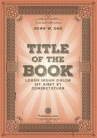 Diseño de portada de libro retro vintage