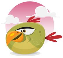 toon pássaro exótico