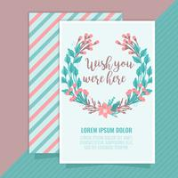 Vector Wish You Were Here Card
