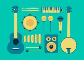 Instrumentos Musicais Knolling Vector