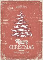 Christmas Greeting Card With Grunge Texture vector